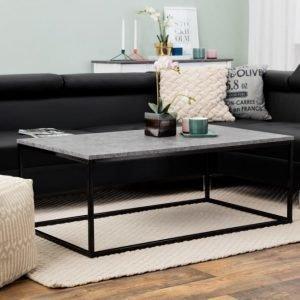 Mita Sohvapöytä 120 Betoni/Musta