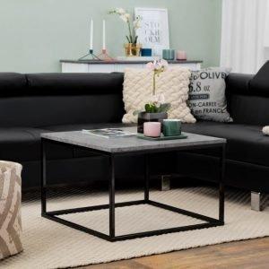 Mita Sohvapöytä 70 Betoni/Musta