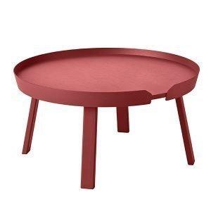 Muuto Around Pöytä Iso Tummanpunainen