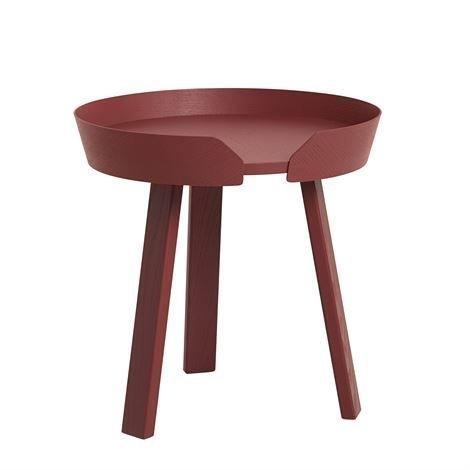Muuto Around Pöytä Pieni Tummanpunainen