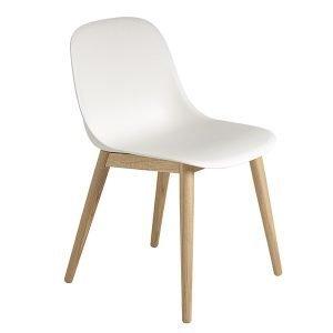 Muuto Fiber Ruokapöydän Tuoli Tammi Valkoinen