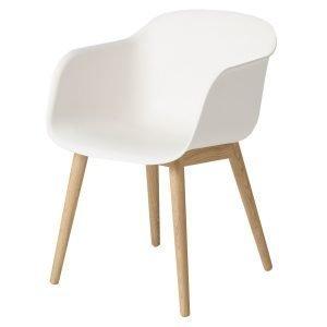 Muuto Fiber Wood Nojatuoli Valkoinen / Tammi
