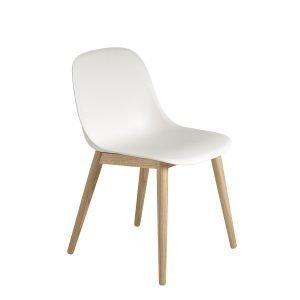 Muuto Fiber Wood Tuoli Valkoinen / Tammi