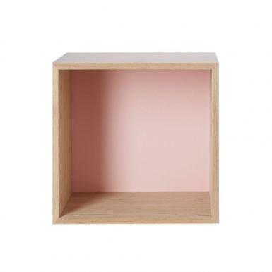 Muuto Mini Stacked Hylly Medium Saarni Vaaleanpunainen Medium Saarni-Vaaleanpunainen