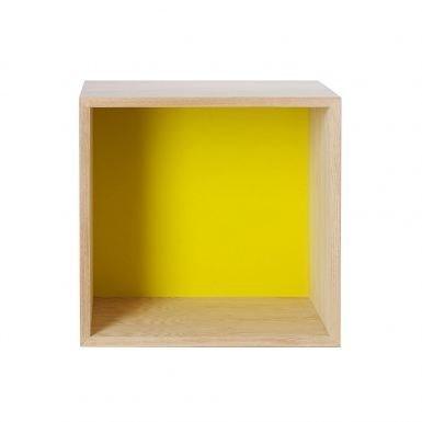 Muuto Mini Stacked Hylly Saarni Keltainen Medium Saarni-Keltainen