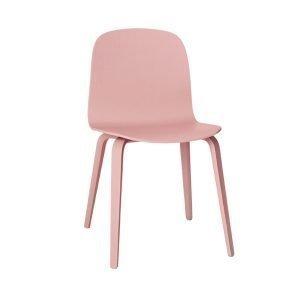 Muuto Visu Tuoli Puujalusta Vaaleanpunainen