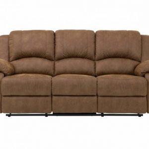 Nanterre 3-istuttava Recliner-sohva Vaaleanruskea