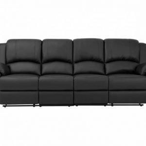 Nanterre 4-istuttava Recliner-sohva Musta