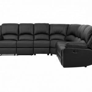 Nanterre Recliner-kulmasohva XL Musta