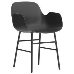 Normann Copenhagen Form Käsinojallinen Tuoli Musta / Metalli