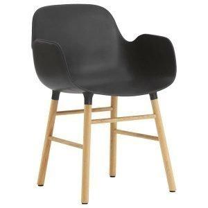Normann Copenhagen Form Käsinojallinen Tuoli Musta / Tammi