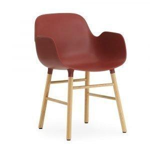 Normann Copenhagen Form Käsinojallinen Tuoli Punainen / Tammi 78x56 Cm