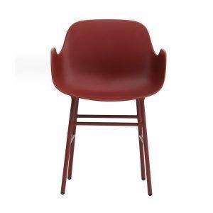 Normann Copenhagen Form Käsinojallinen Tuoli Punainen / Teräs 78x56 Cm