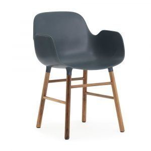 Normann Copenhagen Form Käsinojallinen Tuoli Sininen / Saksanpähkinä
