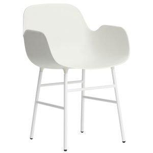 Normann Copenhagen Form Käsinojallinen Tuoli Valkoinen / Metalli