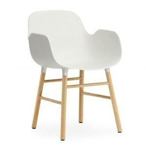 Normann Copenhagen Form Käsinojallinen Tuoli Valkoinen / Tammi 78x56 Cm