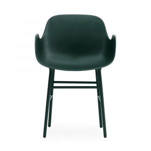 Normann Copenhagen Form Käsinojallinen Tuoli Vihreä / Teräs 78x56
