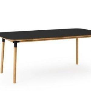Normann Copenhagen Form Pöytä musta/tammi 95x200cm