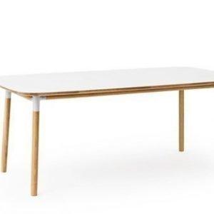 Normann Copenhagen Form Pöytä valkoinen/tammi 95x200cm