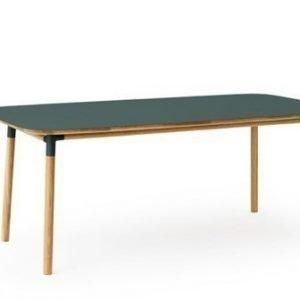 Normann Copenhagen Form Pöytä vihreä/tammi 95x200cm