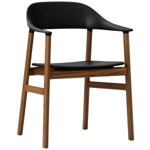 Normann Copenhagen Herit Tuoli Käsinojilla Savustettu Tammi Musta
