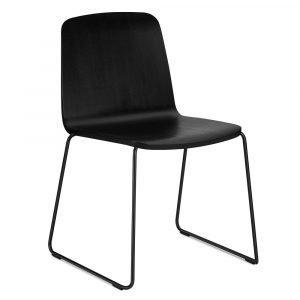 Normann Copenhagen Just Chair Pinottava Tuoli Musta / Musta / Musta