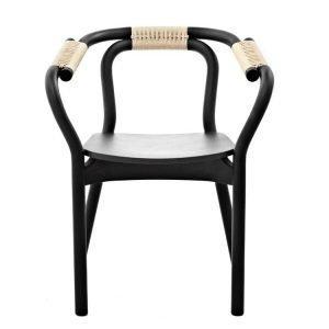 Normann Copenhagen Knot Tuoli Musta / Luonnonväri