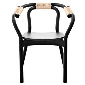 Normann Copenhagen Knot Tuoli Musta / Luonnonvärinen
