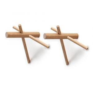 Normann Copenhagen Sticks Koukku Luonnonväri 2-Pakkaus