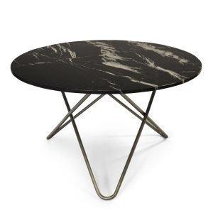 Ox Denmarq Big O Pöytä Musta Marmori / Teräs