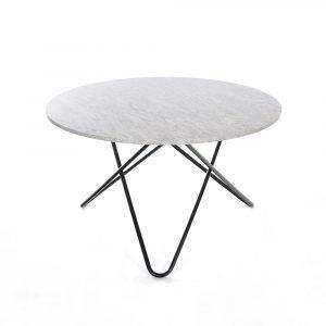 Ox Denmarq Big O Pöytä Valkoinen Marmori / Musta