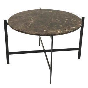 Ox Denmarq Deck Large Pöytä Ruskea Marmori / Musta