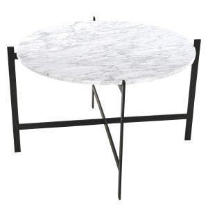 Ox Denmarq Deck Large Pöytä Valkoinen Marmori / Musta