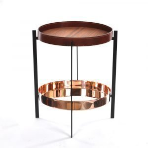 Ox Denmarq Deck Sivupöytä Kupari / Tiikki