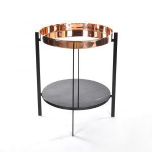 Ox Denmarq Deck Sivupöytä Musta Marmori / Kupari