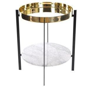 Ox Denmarq Deck Sivupöytä Valkoinen Marmori / Messinki