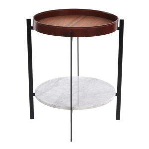 Ox Denmarq Deck Sivupöytä Valkoinen Marmori / Tiikki