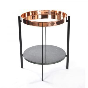 Ox Denmarq Deck Sivupöytä Vihreä Marmori / Kupari