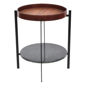 Ox Denmarq Deck Sivupöytä Vihreä Marmori / Tiikki