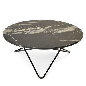 Ox Denmarq Large O Pöytä Musta Marmori / Messinki