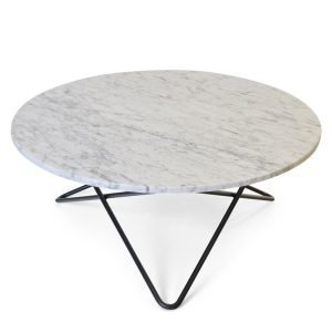 Ox Denmarq Large O Pöytä Valkea Marmori / Musta