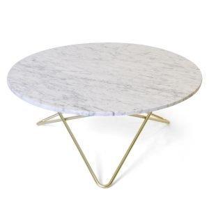 Ox Denmarq Large O Pöytä Valkoinen Marmori / Messinki