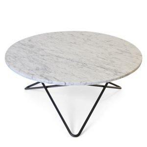 Ox Denmarq Large O Pöytä Valkoinen Marmori / Musta
