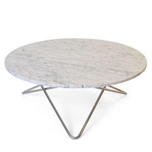 Ox Denmarq Large O Pöytä Valkoinen Marmori / Teräs