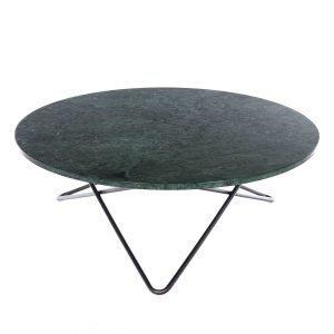 Ox Denmarq Large O Pöytä Vihreä Marmori / Musta