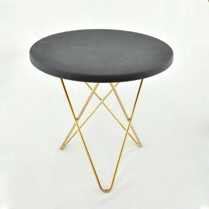 Ox Denmarq Mini O Sivupöytä Musta Marmori / Messinki