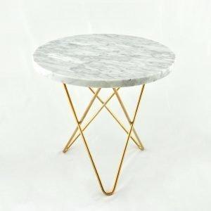 Ox Denmarq Mini O Sivupöytä Valkoinen Marmori / Messinki