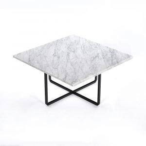 Ox Denmarq Ninety Sohvapöytä Valkoinen Marmori / Musta 60x60 Cm
