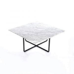 Ox Denmarq Ninety Sohvapöytä Valkoinen Marmori / Musta 80x80 Cm