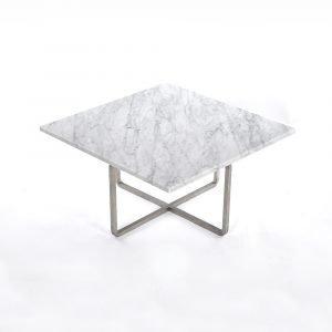 Ox Denmarq Ninety Sohvapöytä Valkoinen Marmori / Teräs 60x60 Cm